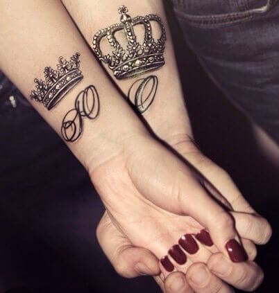 Amazing King and Queen Tattoos for passionate lovers 3