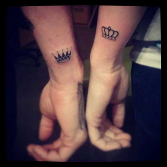 Amazing King and Queen Tattoos for passionate lovers 35
