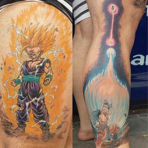 Dragon Ball Z Tattoos the ultimate manga/Anime 2