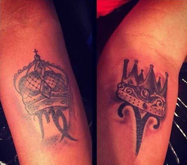 Amazing King and Queen Tattoos for passionate lovers 36