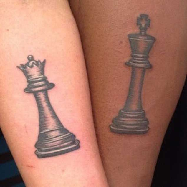Amazing King and Queen Tattoos for passionate lovers 41