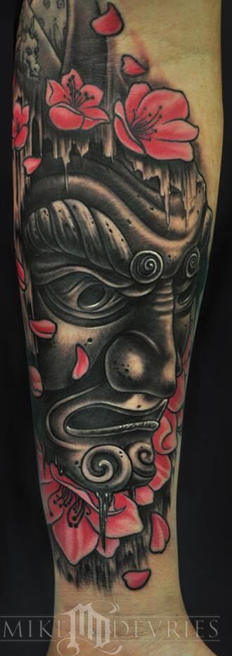 Things to know about the Oni mask Tattoo ( Gallery ) 11