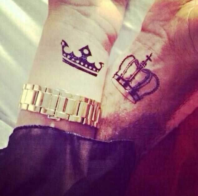 Amazing King and Queen Tattoos for passionate lovers 37