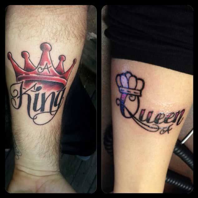 Amazing King and Queen Tattoos for passionate lovers 10