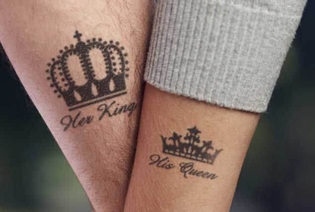 Amazing King and Queen Tattoos for passionate lovers 11