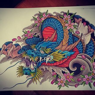 How To Design Your First Japanese Dragon Tattoo Tattooli Com