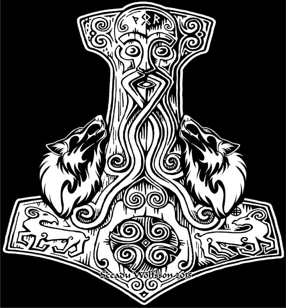 Mjolnir tattoo ideas you need to know of 16