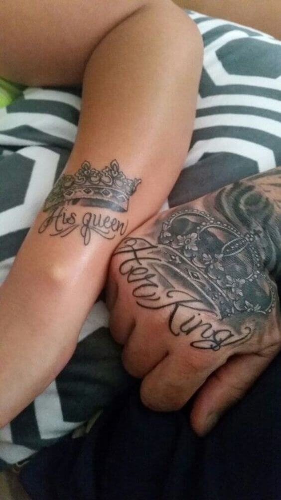 Amazing King and Queen Tattoos for passionate lovers 38