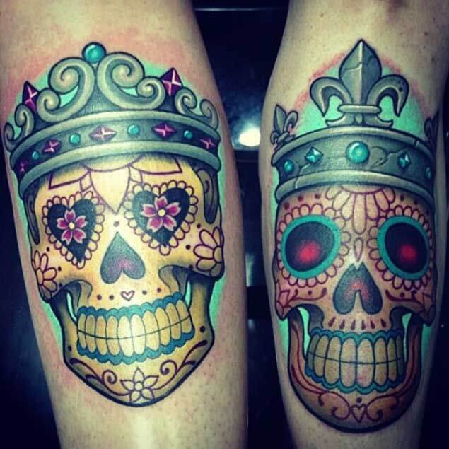 Amazing King and Queen Tattoos for passionate lovers 13