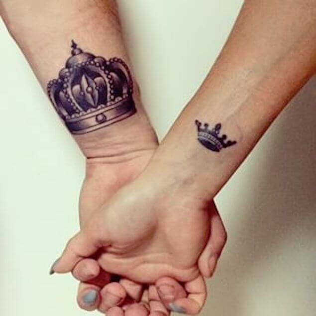 Amazing King and Queen Tattoos for passionate lovers 27