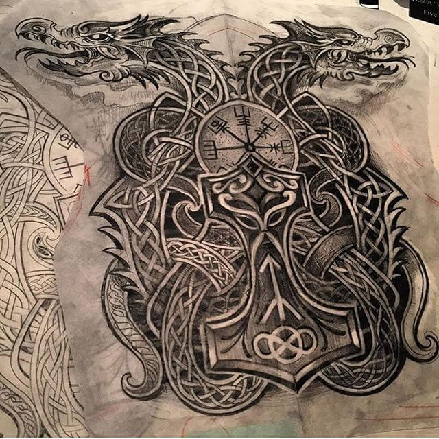 Mjolnir tattoo ideas you need to know of 17
