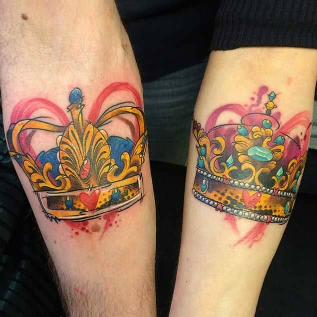 Amazing King and Queen Tattoos for passionate lovers 14