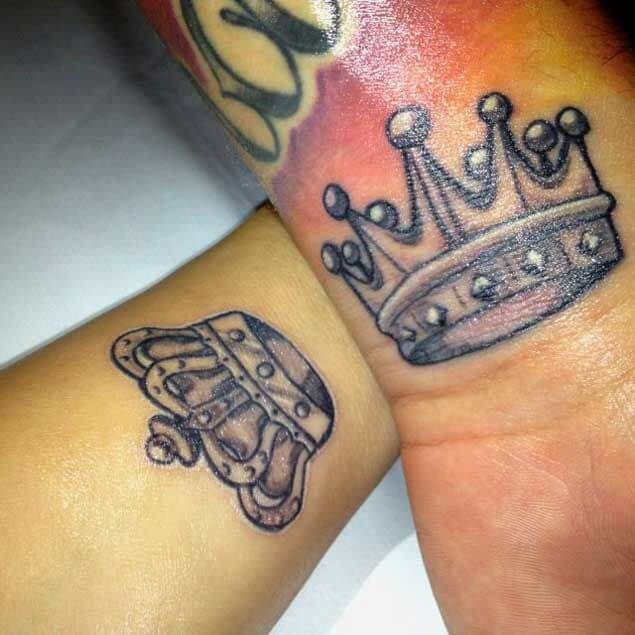 Amazing King and Queen Tattoos for passionate lovers 22