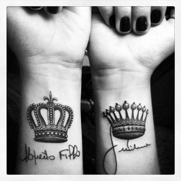 Amazing King and Queen Tattoos for passionate lovers 34