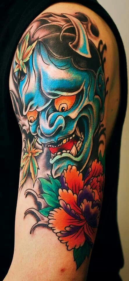 Things to know about the Oni mask Tattoo ( Gallery ) 2