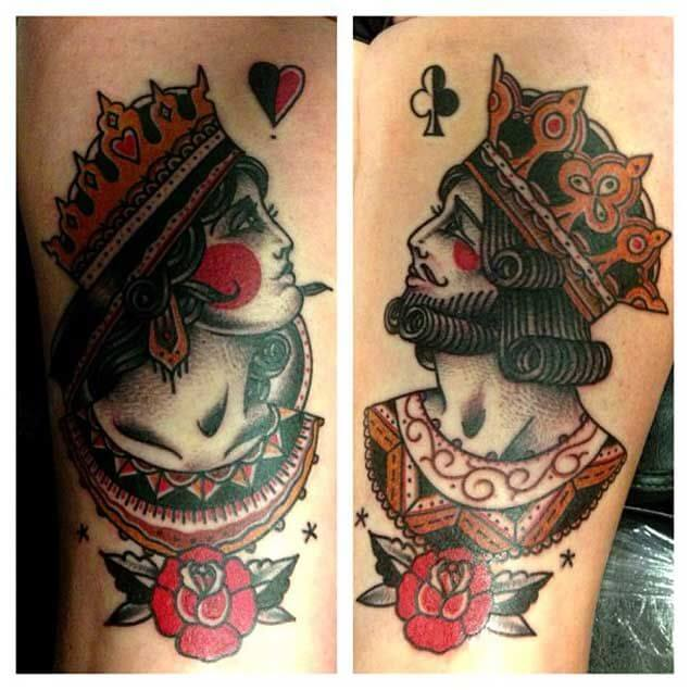 Amazing King and Queen Tattoos for passionate lovers 23