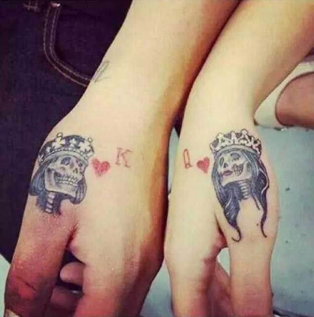 Amazing King and Queen Tattoos for passionate lovers 24