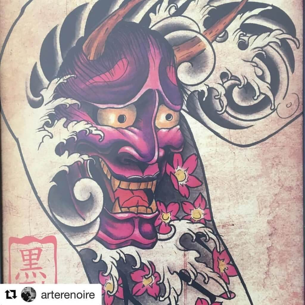 Things to know about the Oni mask Tattoo ( Gallery ) 3