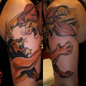 lion king tattoo design for men