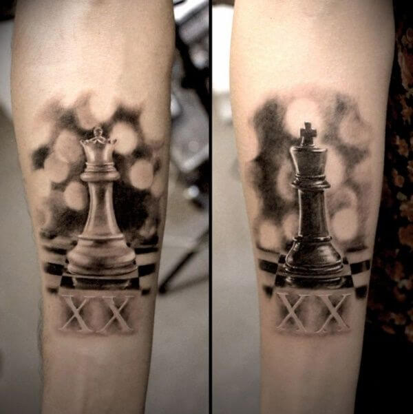 Amazing King and Queen Tattoos for passionate lovers 19