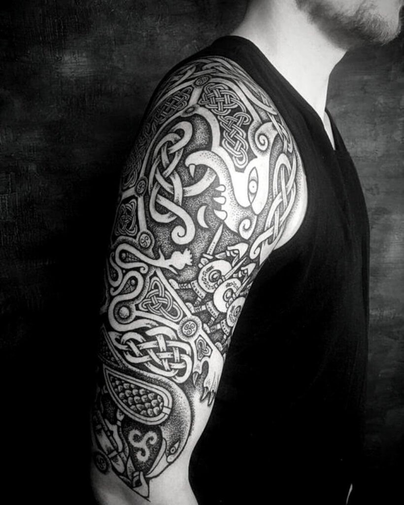 Considering Colors Of Your New Half Sleeve Tattoo 15