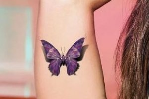 Colored butterflies tattoo
