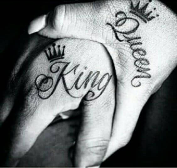 His and Her King and Queen Tattoos