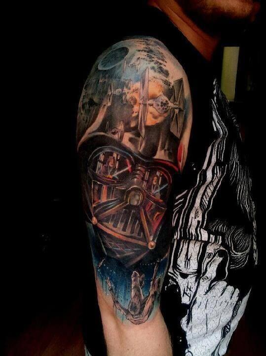 SLEEVE star wars tattoo for men