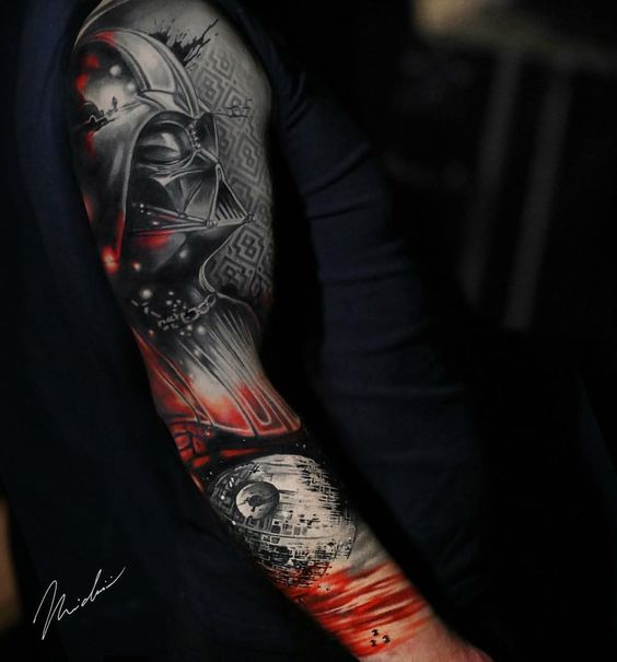 SLEEVE star wars tattoo