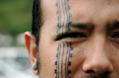 Tribal Tattoos on face