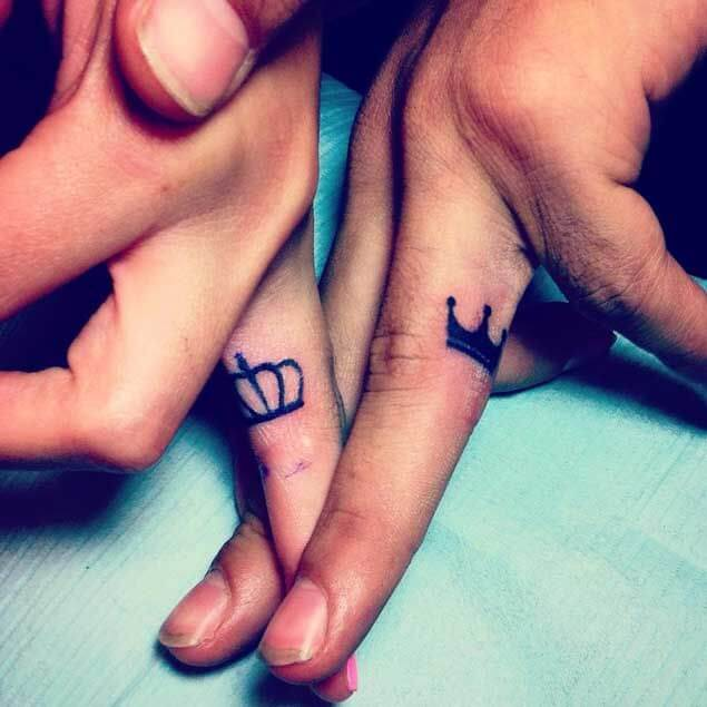 Amazing King and Queen Tattoos for passionate lovers 46