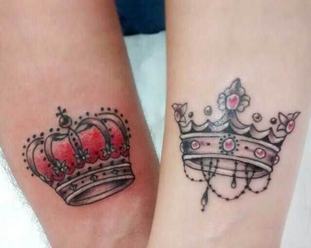 Amazing King and Queen Tattoos for passionate lovers 44