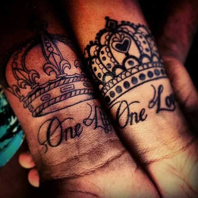 Amazing King and Queen Tattoos for passionate lovers 48