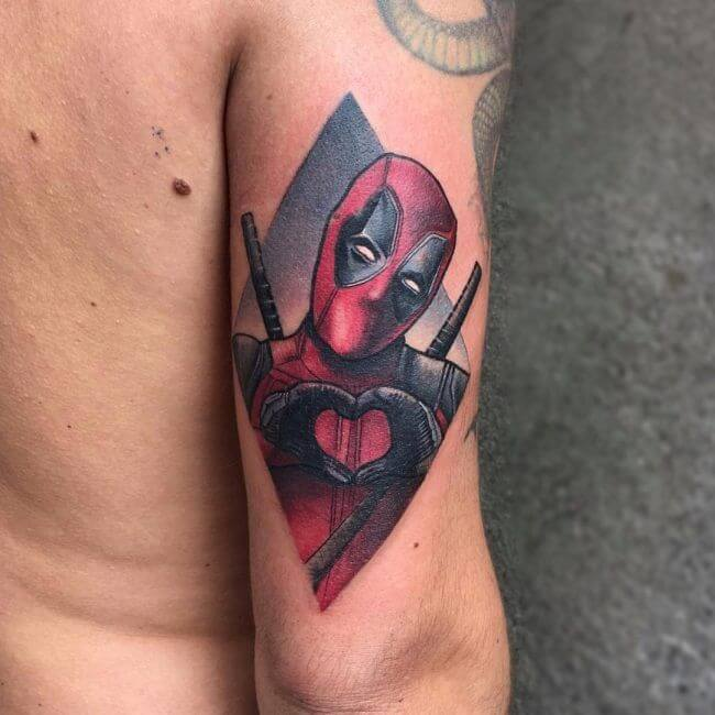 Deadpool tattoos : The Funny and Deadly Superhero Character We All Love 5