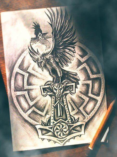 Mjolnir tattoo ideas you need to know of 31