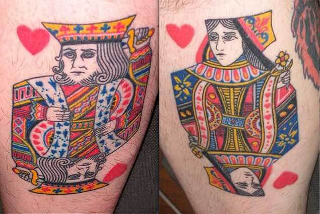 Amazing King and Queen Tattoos for passionate lovers 56