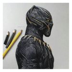 Black Panther tattoos : The Famous Marvel Character Who We All Love 3