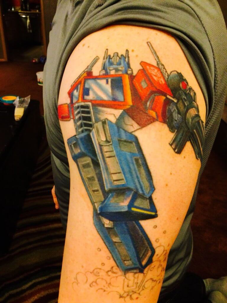 Getting a Transformers tattoo after watching the films 4