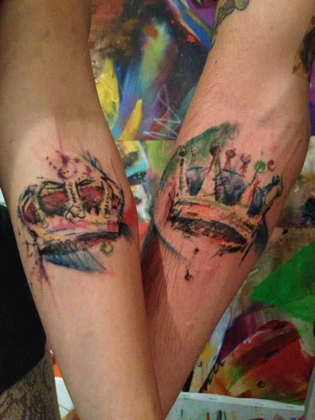 Amazing King and Queen Tattoos for passionate lovers 57