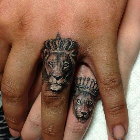 Amazing King and Queen Tattoos for passionate lovers 60