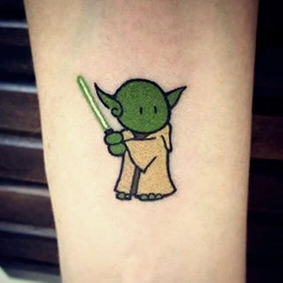 funny cute star wars tattoo