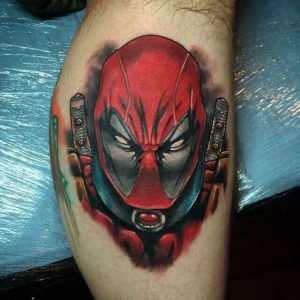 realistic deadpool tattoo