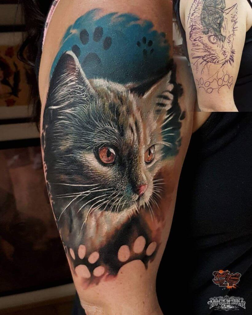 The most loved cat tattoos ideas ever! 2