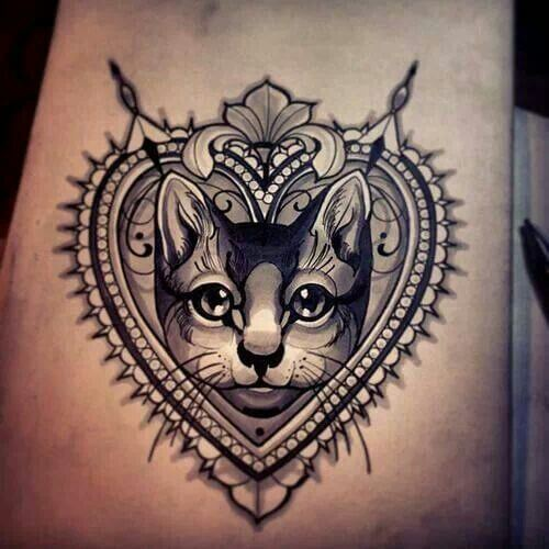The most loved cat tattoos ideas ever! 15
