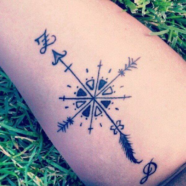 Learn the various Arrow tattoo meanings 31