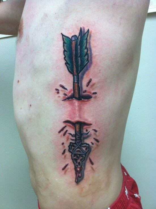 Learn the various Arrow tattoo meanings 25