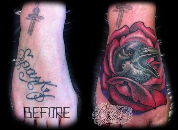 Smart tattoo cover up ideas that will amaze you 20