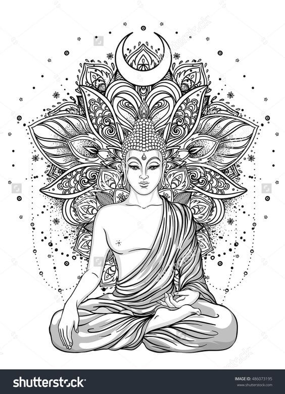 Buddhism mandala tattoo