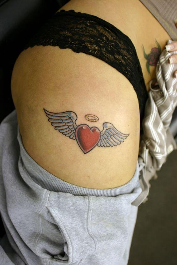 classic Winged Heart tattoo