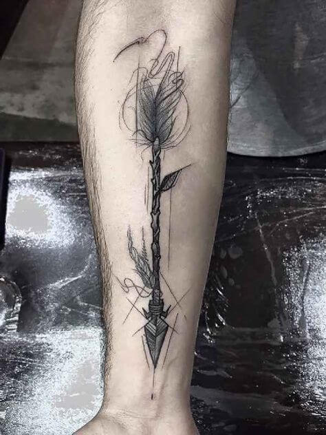 Learn the various Arrow tattoo meanings 51